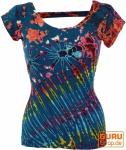 Batik Hippie T-Shirt - blau