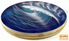 Wave Drum, Wellentrommel, Percussion Rhythmus Klang Instrumente - blau-türkies