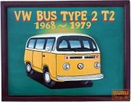 Retro Werbeschild 3-D - VW Bus