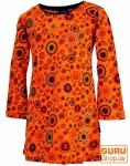 Bestickte Mädchen Tunika, Ethno Minikleid Flora - orange