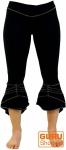 Elfen Leggings, Psytrance Goa Stretch Damenhose - schwarz/grau