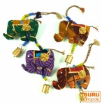 Indisches Elefanten Mobile mit Glöckchen