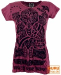 Sure T-Shirt tribal Ganesh - bordeaux