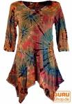 Batikkleid, Minikleid, Boho Pixi Kleid - rostorange