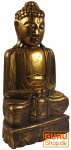 Holzbuddha mit Goldbemalung (50 cm) Nr. 1
