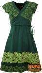 Minikleid, Boho Kleid Rose Bio Baumwolle - grün