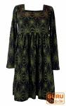 Hippie Minikleid Boho chic, Tunika - schwarz/grün