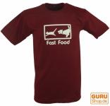 Fun T-Shirt `Fast Food` - rot