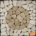 Mosaikfliese mit Kreis aus Marmor (Mo-07)