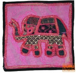 Patchwork Kissenhülle Rajasthan, Einzelstück - 16