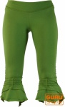 Elfen Leggings, Psytrance Goa Stretch Damenhose - grün