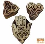 Indische Holz Stempel - Set 4