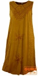 Besticktes Boho Sommerkleid, indisches Hippie Kleid, mustard - Design 22