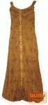 Besticktes Boho Sommerkleid, indisches Hippie Trägerkleid, mustard - Design 15