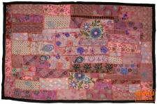 Indischer Wandteppich Patchwork, Einzelstück 100*155 cm