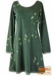 Minikleid, Boho Kleid Leave Organic - grün