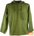 Nepal Hemd Goa Hippie Sweatshirt - olive
