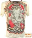 Weed T-Shirt Ganesh - weiß