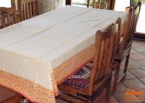 Tischdecke, Tischtuch, Tischtuch, Tafeltuch Blockdruck in 3 Größen - Design 1