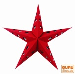 Stern Lichterkette Mini - rot