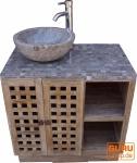 Waschtisch, Waschbecken, Antikweiß-Marmor - Modell 2