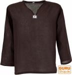 Yoga Hemd, Goa Hemd - dunkelbraun
