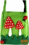 Filz Tasche Fliegenpilz grün