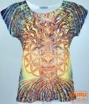 Psytrance T-Shirt, Yoga T-Shirt, Retro T-Shirt - Baum des Lebens