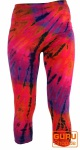 3/4 Batik Damen Leggings, Stretch Sporthose für Frauen, Yogahose