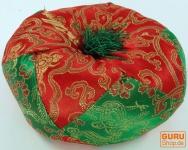 Klangschalen Kissen - rot/grün