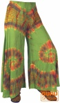 Farbenfroher Batik Hosenrock - grün
