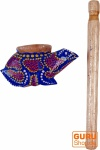 Musikinstrument aus Holz, Musik Percussion Rhythmus Klang Instrument, handgearbeitet - Drehrassel 1