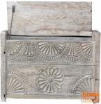 KleineTruhe, Kiste, Holzbox mit beschnitzter Front JH17-137