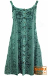 Besticktes indisches Kleid, Boho Minikleid, türkisblau - Design 17