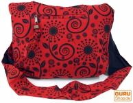 Sadhu Bag, Shopper, kleiner Schulterbeutel - rot