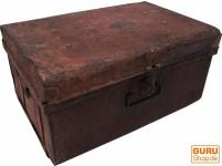 Alter Blechkoffer antiker Metallkoffer - Modell 12