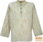Indisches Hemd, kurze Kadhi Kurta - beige