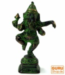 Messingfigur Ganesha Statue, tanzender Ganesha 10 cm - Motiv 17