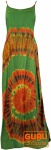 Batik Maxikleid, Strandkleid, Sommerkleid, langes Kleid - grün