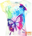 Psytrance T-Shirt, Yoga T-Shirt, Retro T-Shirt - Schmetterling