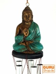 Klangspiel mit Buddha türkis