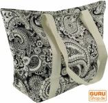Einkaufstasche, Handtasche, Shopper mit Paisleydruck - schwarz/weiß Paisley 2