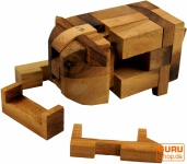 Puzzle Schwein, 3 D Holzpuzzle