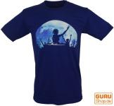Fun T-Shirt `Fullmoon Party` - blau