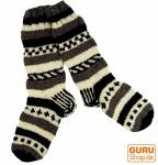 Handgestrickte Schafwollsocken, Nepal Socken Größe 41-44