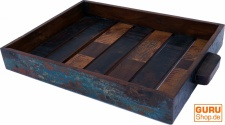 Vintage Tablett aus Recyclingholz