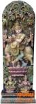 Antike Holzskulptur XXL, Wand Dekoration - Krishna