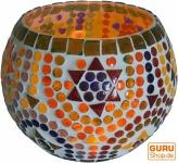 Mosaik Windlicht Glas 14 cm - 2