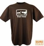 Fun T-Shirt `Fast Food` - braun