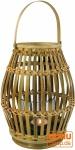 Windlicht, Kerzenhalter, Teelichtlampe aus Bambus